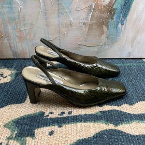 Bellini Snakeskin Slingback Shoes